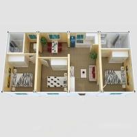 Дачный домик 57,6 кв.м. на базе блок контейнеров внутренняя отделка Вагонка