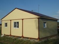 Дачный домик 43,2 м.кв (7,2х6м) на базе блок контейнеров внутренняя отделка ПВХ