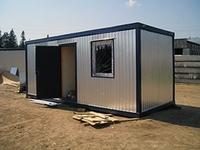 Блок-контейнер 5.8x2.4x2.5м, внутренняя отделка ПВХ (бытовка без утепления)