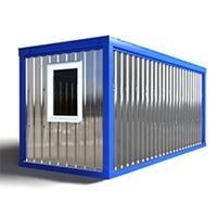 Блок-контейнер 5.8x2.4x2.5м, внутренняя отделка ПВХ (бытовка металлическая БК-1)