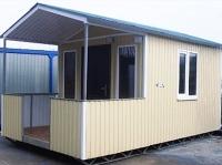 Дачный домик 2,4х7м. на базе блок контейнеров внутренняя отделка ПВХ