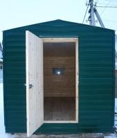 Дачный домик 2,4х6 м. на базе блок контейнеров внутренняя отделка Вагонка