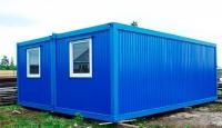 Дачный домик 4,8х7х2,5 м. на базе блок-контейнера внутренняя отделка ПВХ