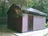 Дачный домик 18 кв. из металлического каркаса внутренняя отделка Вагонка