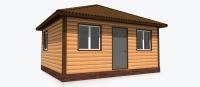 Дачный домик 15 м.кв (4х6х3,1м) на базе блок контейнеров внутренняя отделка ПВХ