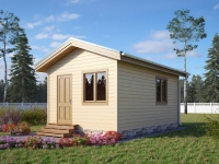 Дачный домик 2х4хх2.5 м. внутренняя отделка Вагонка