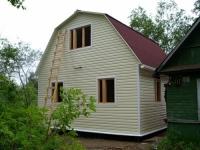 Дачный домик 5х6х4 .м. внутренняя отделка Вагонка