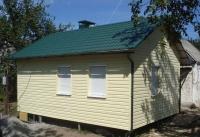 Дачный домик 3х5х3.1 м. внутренняя отделка имитация бруса
