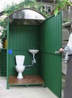 Летний туалет с раковиной  2х1.5х2,5м