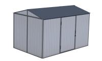 Сарай металлический 4х2х2.5 м (сарай металлический для дачи)