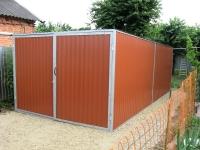 Гараж с сараем 4х9х2,5м (гараж и сарай в одной конструкции для дачи 36 м.кв)