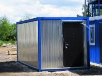 Блок-контейнер 6.0x2.4x2.5м, внутренняя отделка ДВП