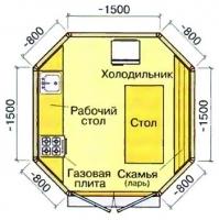 Летняя кухня 3.1х3.1х3