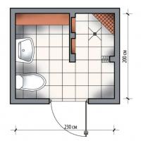 Душевая и туалет 4.6 кв.м