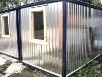 Блок-контейнер 5,8x2.4x2.5м, внутренняя отделка Вагонка