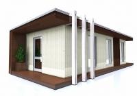 Дачный домик 21 м.кв  внутренняя отделка Вагонка