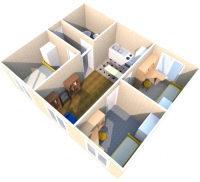 Дачный домик 50.4 м.кв, внутренняя отделка МДФ