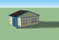 Дачный домик 24 м.кв (6х4х3,1м)  внутренняя отделка ПВХ