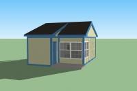 Дачный домик 24 м.кв (6х4х3,1м)  внутренняя отделка вагонка.