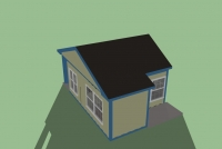 Дачный домик 24 м.кв (6х4х3,1м)  внутренняя отделка МДФ.