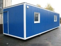 Блок-контейнер 9.0x2.4x2.5м, внутренняя отделка Вагонка