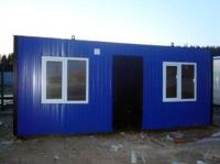Блок-контейнер 5,8x2.4x2.5м, внутренняя отделка Вагонка (строительный вагончик утепленный)