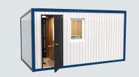 Блок-контейнер 5,8x2.4x2.5м, внутренняя отделка Вагонка (строительная бытовка, утепленная)