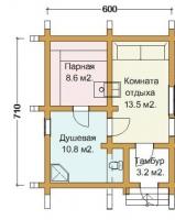 Баня 42.6 кв.м.