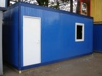 Блок-контейнер 5,8x2.4x2.5м, внутренняя отделка Вагонка (строительная бытовка без утепления)