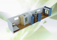 Дачный домик 28.8 м.кв (12х2.4х2,5м) на базе блок контейнеров внутренняя отделка ПВХ
