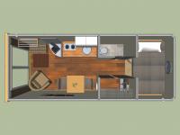 Дачный домик 16.25кв.м. внутренняя отделка Вагонка
