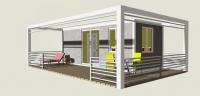 Дачный домик 38.4 м.кв, внутренняя отделка МДФ