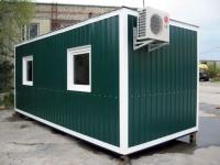 Блок-контейнер 6.0x2.4x2.5м, внутренняя отделка Вагонка (бытовка для рабочих с утеплением )