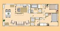 Дачный домик 34 м.кв(8.5х4х2.5 м.)   внутренняя отделка ПВХ