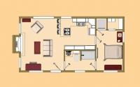 Дачный домик 26 м.кв (6.5х4х2,5) внутренняя отделка МДФ