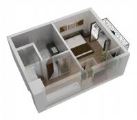 Дачный домик 25 кв.м. внутренняя отделка Вагонка