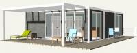 Дачный домик 86.4 м.кв (9.6х9х2,5м) на базе блок контейнеров внутренняя отделка ПВХ