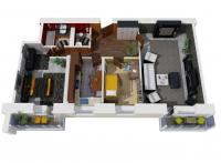 Дачный домик 15х6.3х2.8 м. на базе блок контейнеров внутренняя отделка Вагонка
