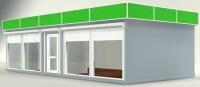 Торговый павильон 45 кв.м из сэндвич-панелей